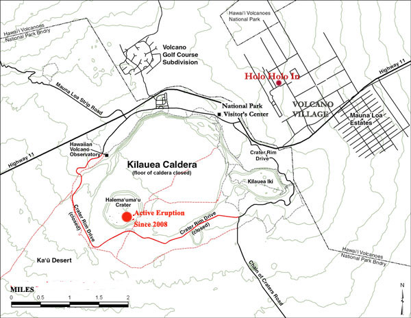 Volcano Hostel closest to Kilauea Volcano activity