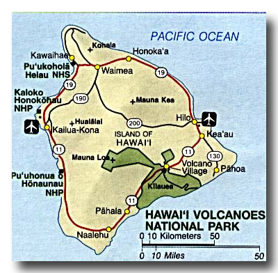 Hawaii Big Island Maps; Location on the Big Island